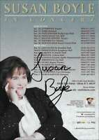 SUSAN BOYLE AUTOGRAPH *I DREAMED A DREAM, THE GIFT* HAND SIGNED 8X6 TOUR FLYER