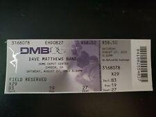 Dave Matthews Band Unused Concert Ticket