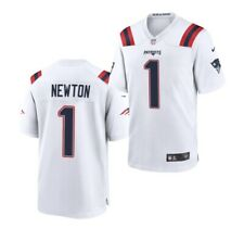 Cam Newton #1 White New England Patriots Jersey - XL