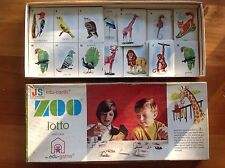 ZOO LOTTO vintage Children's Card Game Board. John Sands Animal Matching