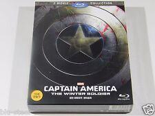 Captain America 1&2 Blu-ray Movie Collection [Korea] Full Slip 2 Disc Set Mint