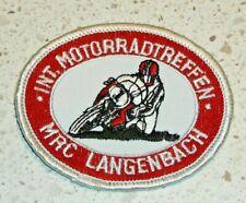 Motorcycle Patch - German INT. Motorradtreffen - MRC Langenbach