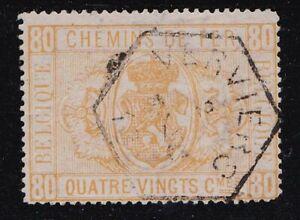 Album Special Belgium Scott # Q5 80c Coat of Arms Parcel Posts VF Used