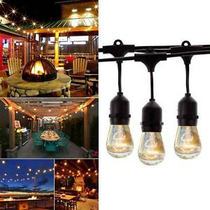 49 Ft Festoon Light Outdoor Lighting Garden String Main Heavy Duty Rustic Edison
