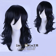 Anime My Hero Academia Akademia Shouta Aizawa 45cm Black Wavy Cosplay Hair Wig
