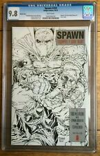 Spawn #224 1:10 Sketch Variant CGC 9.8 Dark Knight Homage Cover