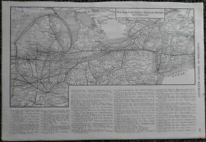 L@@K RARE Antique 1914 New York Central, NY New Haven & Hartford Railroad System