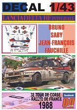 DECAL 1/43 LANCIA DELTA INTEGRALE B.SABY T.DE CORSE 1988 2nd (01)