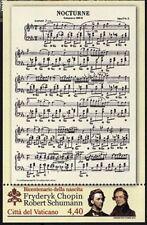 Vatikan Vaticano 2010 postfrisch ** MNH Block sheet Nr.34 Chopin Schumann