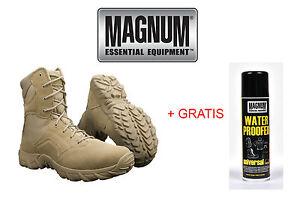 MAGNUM Hi-Tec Cobra 8.0 Desert Leder Stiefel Boots Army Schuhe Kampfstiefel