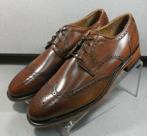 222940 ES50 Men's Shoes Size 8.5 EEE Dark Tan Leather Lace Up Johnston & Murphy