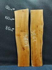 Waney Edge Live Edge Elm Slab Board Kiln Dried Hardwood 1200 x 250-270 x 50mm