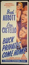 Buck Privates Come Home (1947) Australian Daybill ABBOTT AND COSTELLO