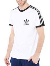 Men's New Adidas Originals Trefoil Logo T-Shirt Top - White - Retro Vintage