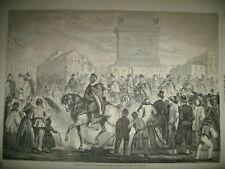 PARIS SPAHIS INVALIDES MESSE PALAIS D'éTé RUE DES MARTYRS CHIENS GRAVURES 1863