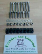 Land Rover Defender Stainless Steel Front Door Hinge Bolt Kit DA1132
