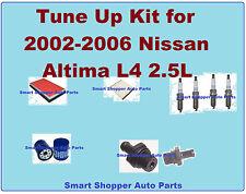 Tune Up Kit for 2002-2006 Nissan Altima L4 2.5L: Spark Plug, Engine Filter, PCV