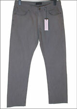 """NUOVO CON ETICHETTA Uomo Superfine bambino jeans dritto W33 """" L34 """" grigio fumo"""