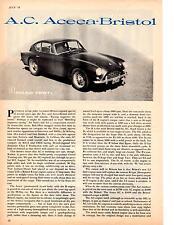1958 A.C. ACECA-BRISTOL ~  ORIGINAL 5-PAGE ROAD TEST / ARTICLE / AD