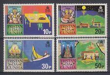 Tristan da Cunha 1984 ** Mi.377/80 Christmas Children Paintings [sq3519]