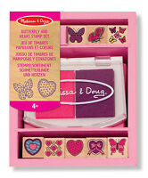 Melissa and Doug Butterfly and Hearts Stamp Set NEW Educational Learning Toys