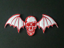 ROCK MUSIC SEW/IRON ON PATCH:- AVENGED SEVENFOLD (b) RED WINGED DEATHBAT
