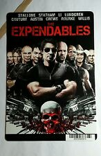 THE EXPENDABLES STALLONE STAT REGULAR ART MINI POSTER BACKER CARD (NOT A movie )