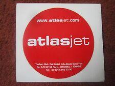 AUTOCOLLANT STICKER AUFKLEBER ATLASJET CHARTER TURQUIE TURKISH AIRLINE ISTANBUL