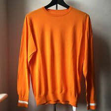 Very Cool SOPHNET orange cotton knit jumper sweater Sz L