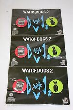 (3) Watch Dogs 2 PREORDER BONUS THREE Button Pin Sets 2016 GAMESTOP PROMO