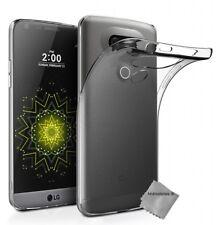 Housse etui coque silicone gel fine pour LG G5 + verre trempe - TPU TRANSPARENT