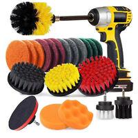 Waxing Brush Head Kit Car Sponge Sticky disc Rod Scrubber Polishing Vehicle