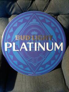 bud light platinum round bar sign...free shipping