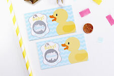 Rubber Duck Baby Shower Scratch Off Game Cards - Baby Shower Game