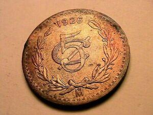 1926 Mexico 5 Centavo CH R&B XF+ Nice Luster Estados Unidos Mexicanos 5C Coin