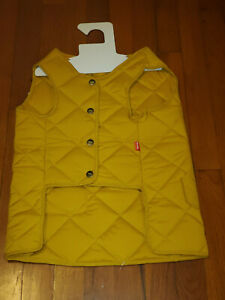 Reddy Yellow Color Quilted Dog Bomber Vest