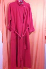 Vanity Fair Vintage Velour Wrap Robe Loungewear House Coat Size M Red Textured