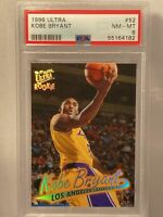 1996-97 Fleer Ultra Kobe Bryant Rookie Base RC LA Lakers SP #52 PSA 8! Near Mint