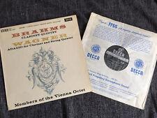 RARE SXL 2297 Brahms Wagner Clarinet Quintets VO First Decca ED1 WBG LP NM/EX