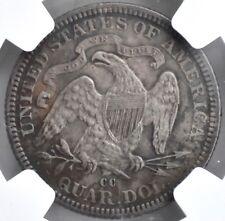 1876 CC sentado dólar cuarto Plata 25 C NGC AU detalles Estados Unidos