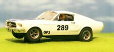 CARRERA - FORD MUSTANG 1967 GT - BLUE & WHITE #289 RACING - SLOT CAR 1/32 SCALE