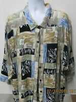 A Personal Touch Hawaiian Style Shirt, 4XL, 3/4 Sleeve??, Multi-Colors