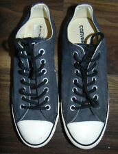 CONVERSE Chuck Taylor Unisex Low Top Canvas Trainers Dark Grey Blue Mens Size 9