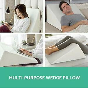 Large Triangle Bed Wedge Pillow For Back Neck Pain Snoring / Pregnancy Support