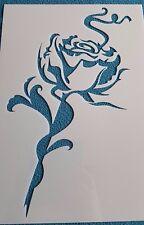 Schablonen 1251 Rose Stanzschablone Shabby Stencil Wandtattoos Wandbilder Tattoo