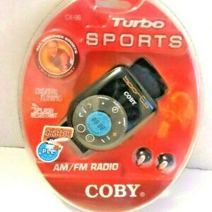Coby Portable AM FM Radio Sports Arm Band Digital Stereo Turbo CX-96 NEW