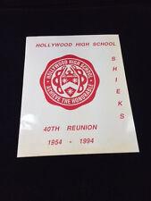 HOLLYWOOD HIGH SCHOOL SHEIKS 1954; 40TH CLASS REUNION BOOKLET