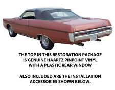 PLYMOUTH FURY III, VIP & SPORTS FURY  CONVERTIBLE TOP  DIY PACKAGE 1969-1970