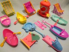 Littlest Pet Shop Random Lot of 4 Beach Accessories Boats Jet ski Sail Boat Ship