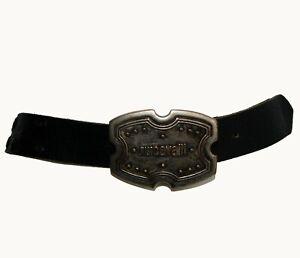 Just Cavalli Roberto Cavalli Black Genuine Leather Women's Waist Belt - 89-99cm